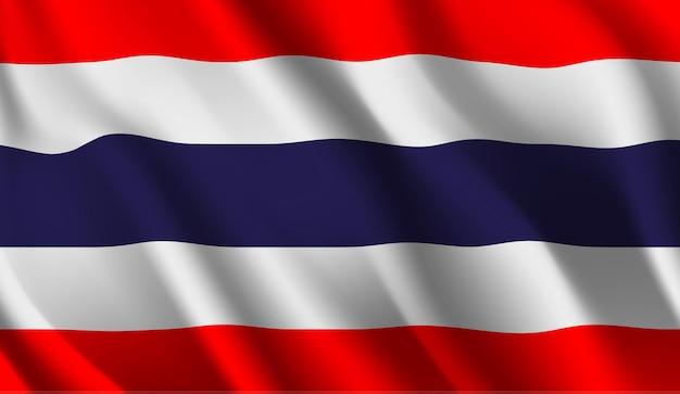 Bandeira da tailândia bandeira da tailândia fundo abstrato