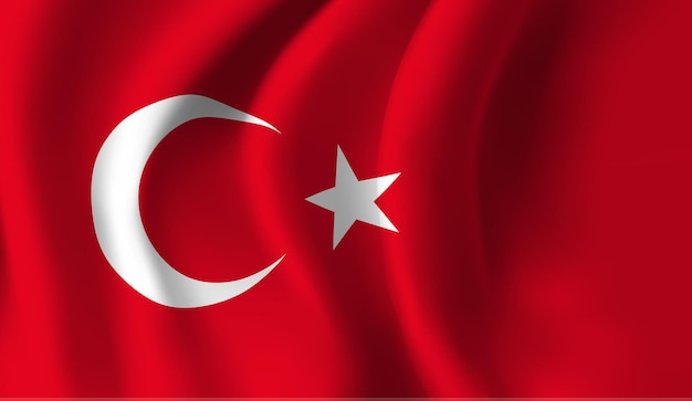 Bandeira da turquia. fundo abstrato da bandeira da turquia