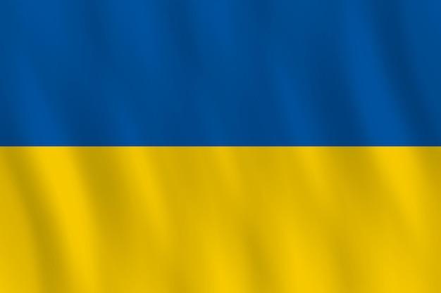 Bandeira da ucrânia com efeito de ondulação, proporção oficial.