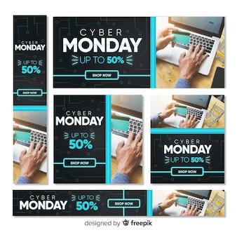 Bandeira da web de cyber segunda-feira