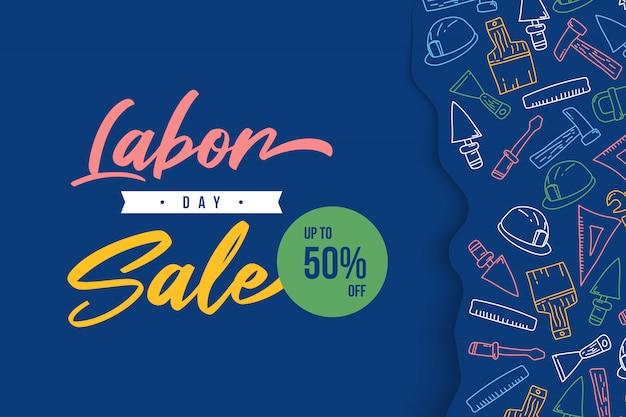 Bandeira da web de venda do dia do trabalho