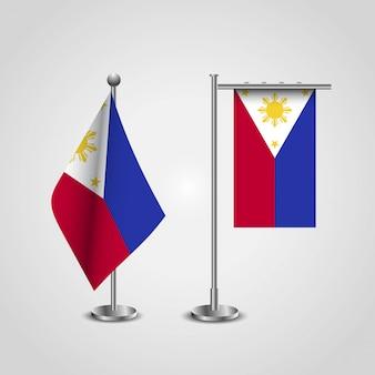 Bandeira das filipinas com vetor design criativo