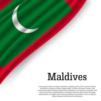 Bandeira das maldivas em branco