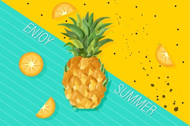 Bandeira de abacaxi de verão