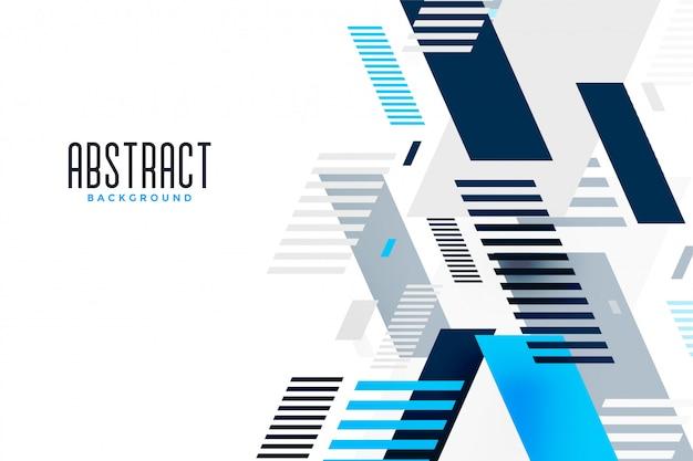 Bandeira de apresentação de composição abstrata linhas azuis