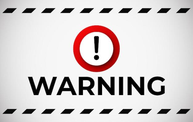 Bandeira de atenção de aviso