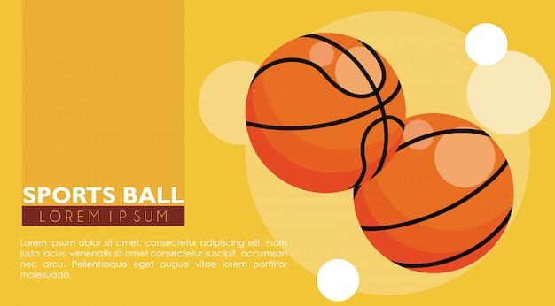 Bandeira de bolas de esporte de basquete