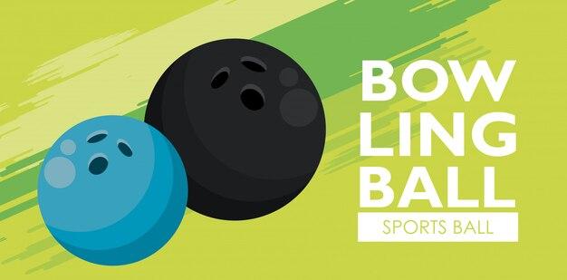 Bandeira de bolas de esporte de boliche