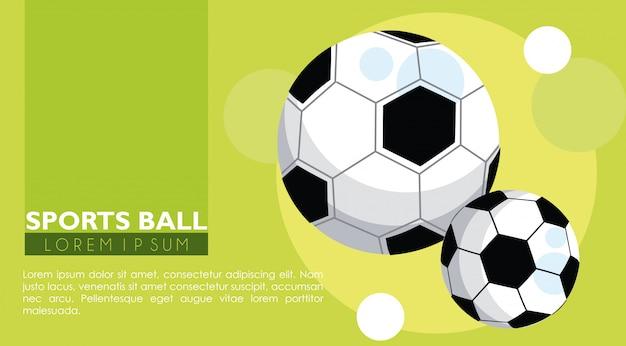 Bandeira de bolas de esporte de futebol