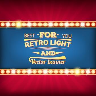 Bandeira de bolha do discurso retrô vector lâmpada.
