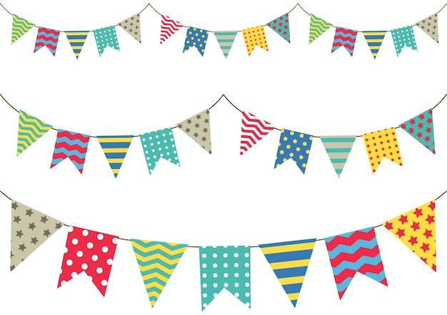Bandeira de bunting colorida