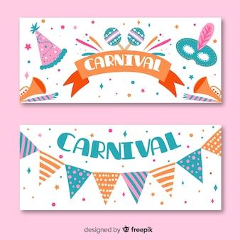 Bandeira de carnaval cor pastel