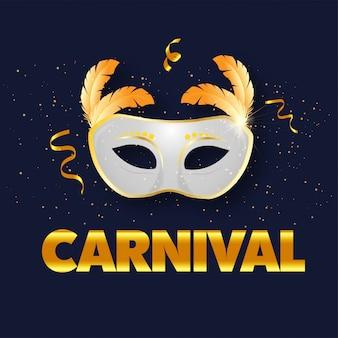 Bandeira de carnaval de veneza para o carnaval