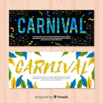 Bandeira de carnaval plana
