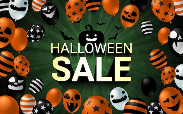 Bandeira de celebração de venda de halloween