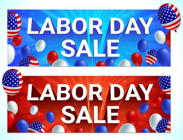 Bandeira de celebração de venda do dia do trabalho