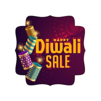 Bandeira de celebração de venda elegante diwali