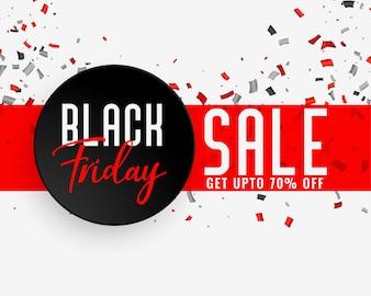 Bandeira de celebração de venda sexta-feira negra