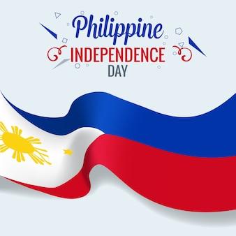 Bandeira de celebração do dia da independência das filipinas