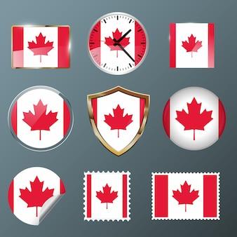 Bandeira de coleção canadá