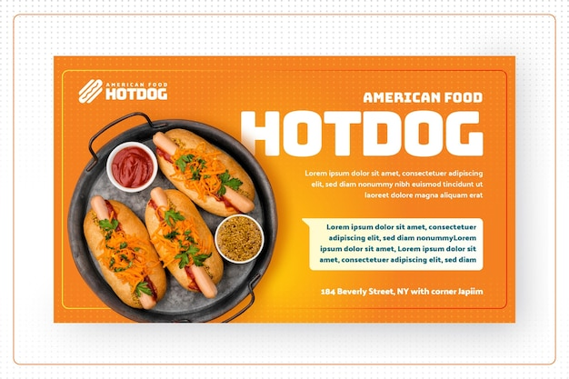 Bandeira de comida americana