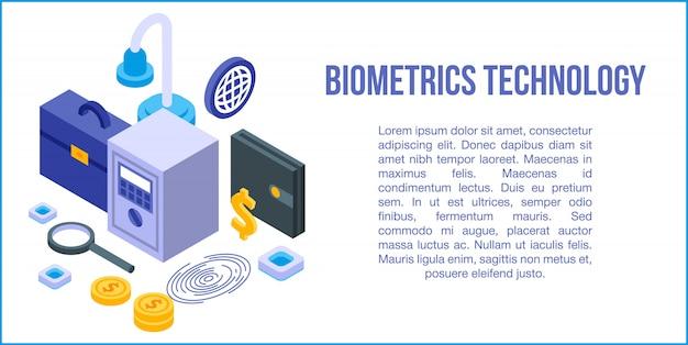 Bandeira de conceito de tecnologia biométrica