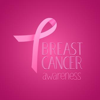 Bandeira de conscientização de câncer de mama.