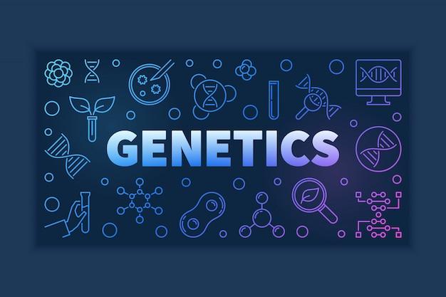 Bandeira de contorno colorido de genética