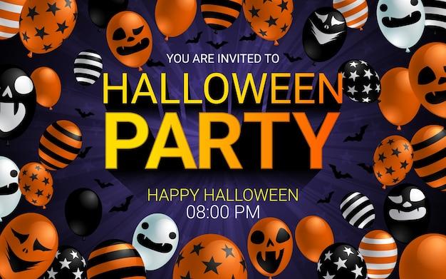 Bandeira de convite de festa de halloween