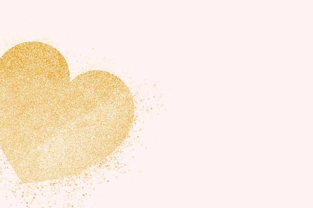 Bandeira de coração de ouro