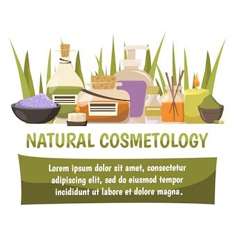 Bandeira de cosmetologia natural
