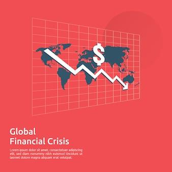 Bandeira de crise de finanças de negócios