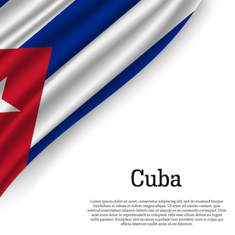 Bandeira de cuba em branco