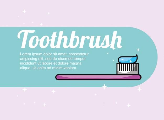 Bandeira de cuidados dentários de escova de dentes