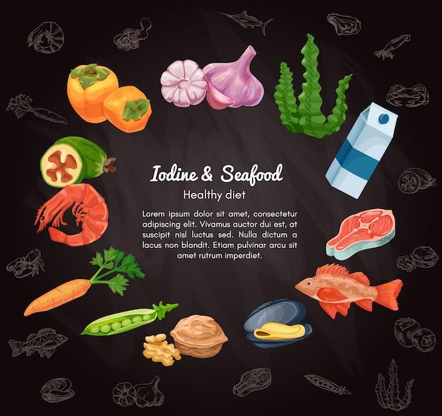 Bandeira de desenho de vetor de alimentos orgânicos