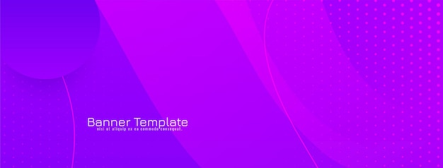 Bandeira de design de estilo de onda de cor violeta abstrata