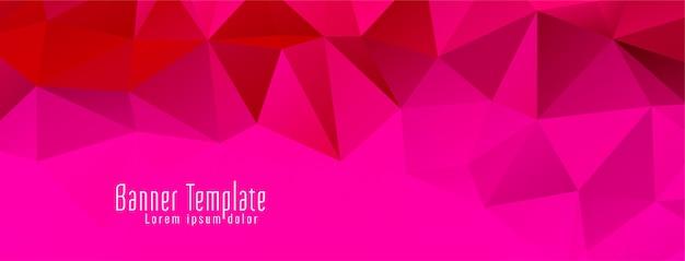 Bandeira de design moderno polígono geométrico colorido