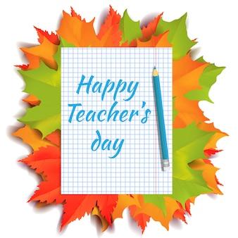 Bandeira de dia feliz professores