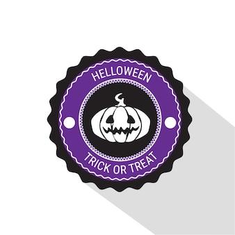 Bandeira de distintivo de abóbora de halloween