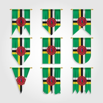 Bandeira de dominica em várias formas