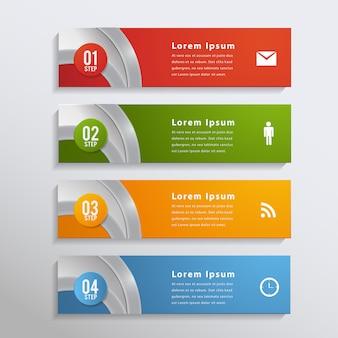 Bandeira de elemento de design moderno infográfico.