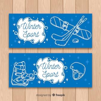 Bandeira de esporte de inverno