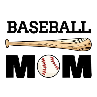 Bandeira de esporte de mãe de beisebol.