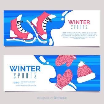 Bandeira de esportes de inverno