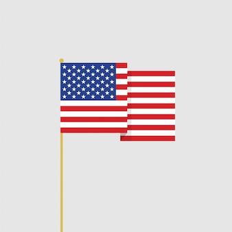 Bandeira de eua design plano