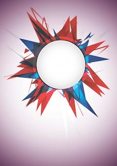 Bandeira de explosão abstrata. ilustração vetorial