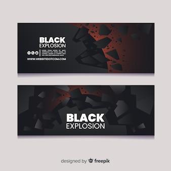 Bandeira de explosão preta