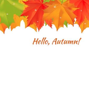 Bandeira de felicitações de outono.