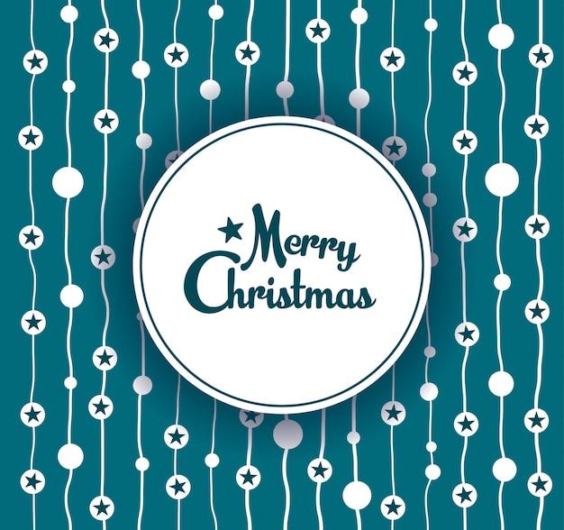 Bandeira de feliz natal. fundo de ornamento decorativo floco de neve.