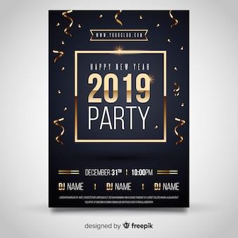 Bandeira de festa de ano novo de 2019